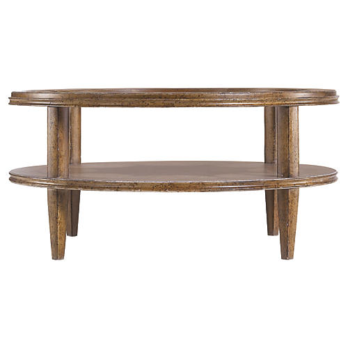 Calvin 42 Round Coffee Table Umber