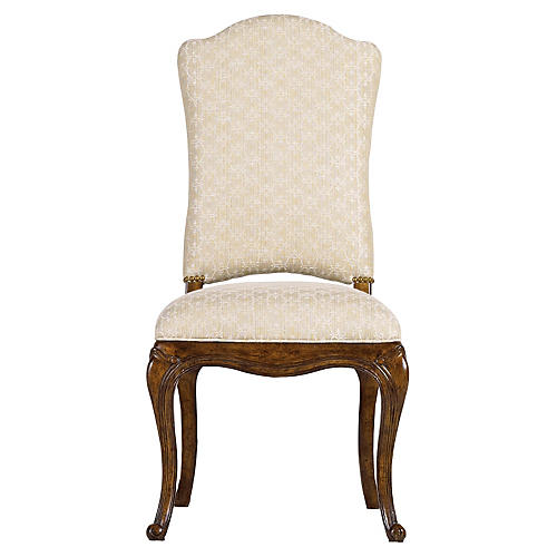 Volute Side Chair, Cream/Ivory