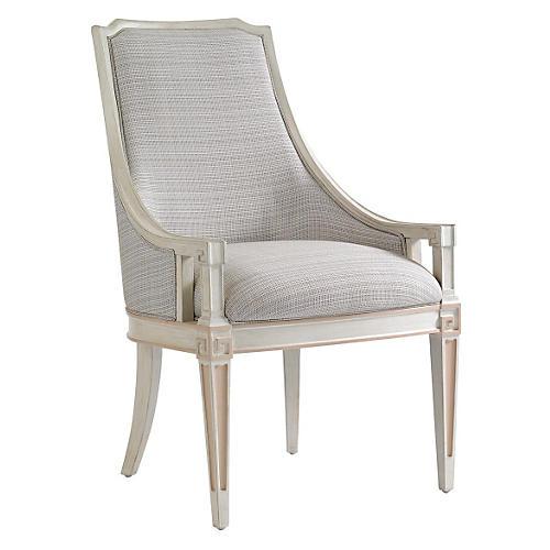 Maybank Host Chair, Light Gray