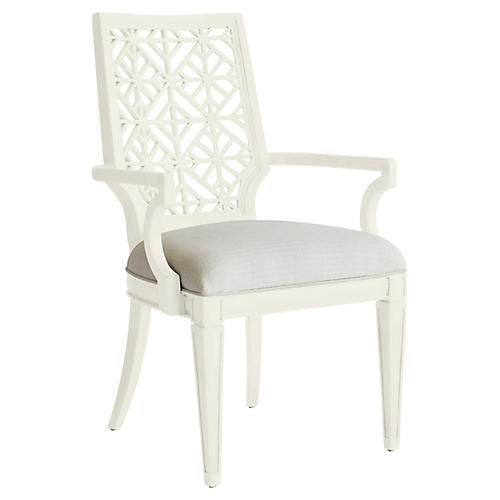 Catalina Armchair, Gray/White