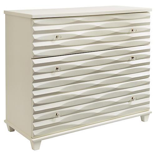 "Tides 45"" Single Dresser, White"