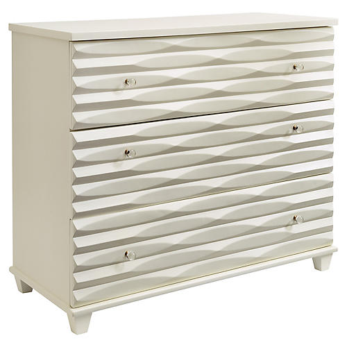 "Tides 45"" Single Dresser, White"