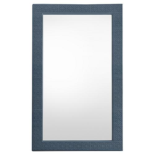 Catalina Floor Mirror, Blue