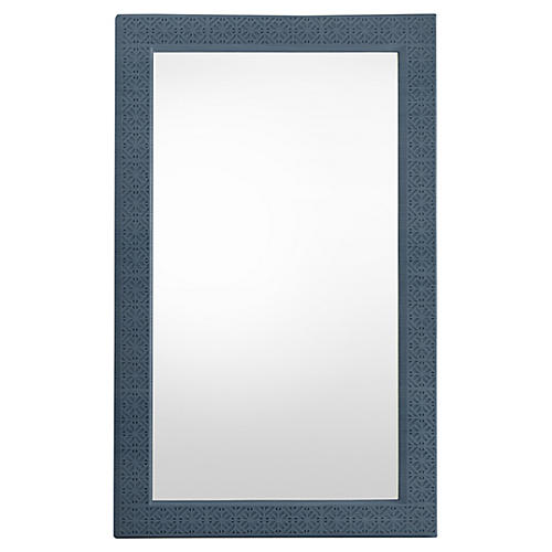 Catalina Floor Mirror, Blue