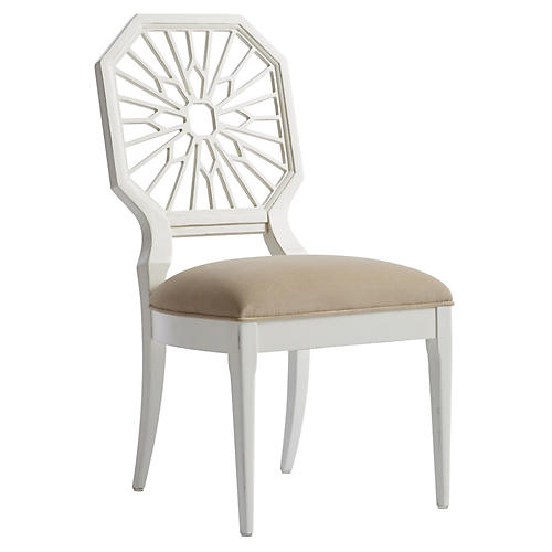 Lasa Side Chair, Verdado Gray/White