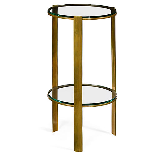 Dorian Round Side Table, Gold
