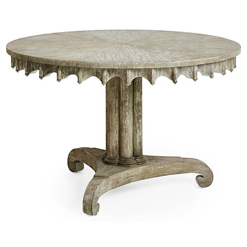"Longwood 47"" Round Dining Table, Gray"