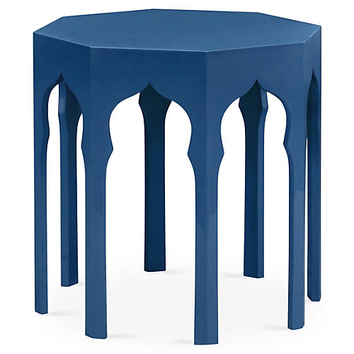 Inez Side Table, Patriot Blue
