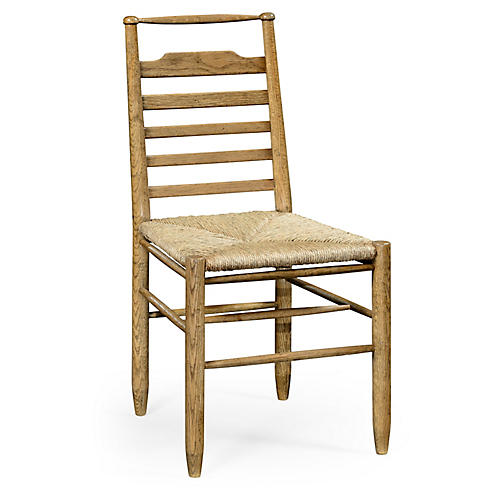 Ladderback Country Side Chair, Natural