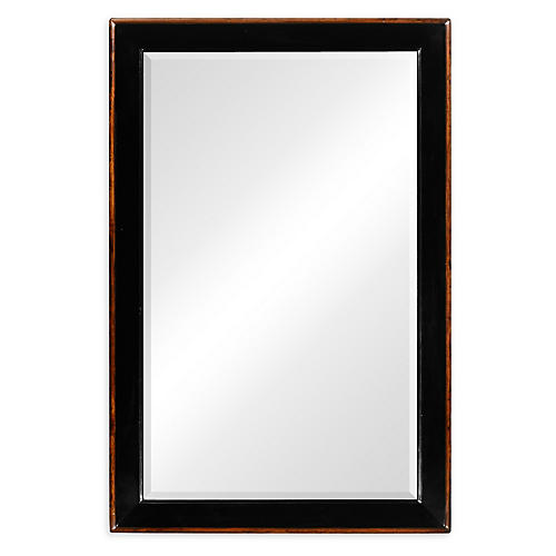 "Rectangular 28""x42"" Wall Mirror, Black"