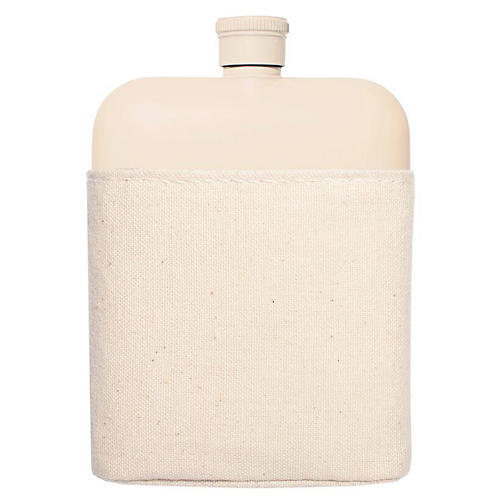 Zoi Flask & Carrier Set, Cream