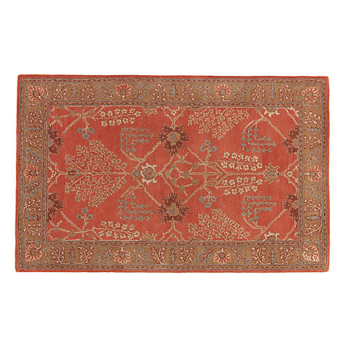 Pilar Rug, Cherry/Brown