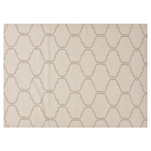 Serra Flat-Weave Rug, Ivory/Taupe