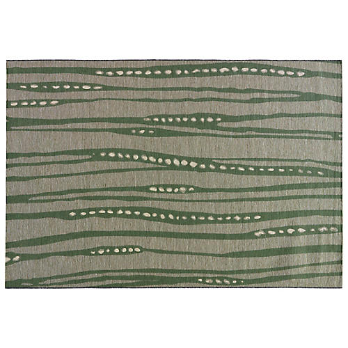 Olive Outdoor Rug, Green