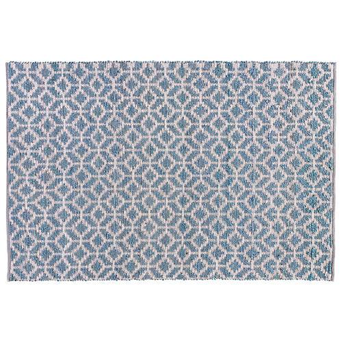 Banyer Jute-Blend Rug, Blue