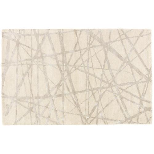 Barbican Rug, Parchment/Gray