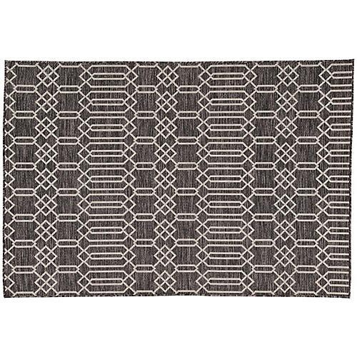 Westwick Outdoor Rug, Dark Gray/Silver