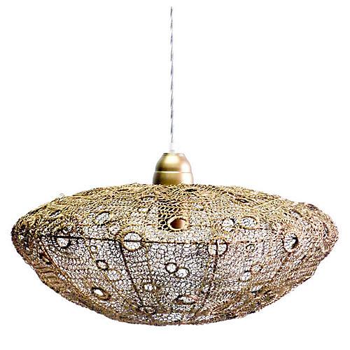 Vela Stratus Pendant, Antiqued Brass