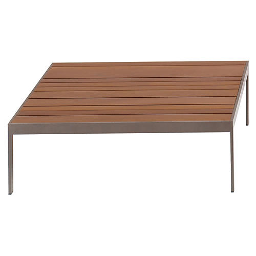 Wood Coffee Table, Gray/Natural