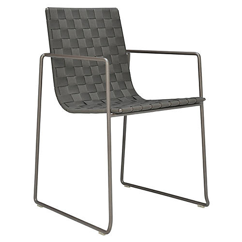 Trenza Armchair, Earth/Graphite