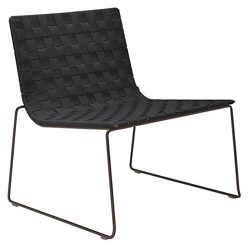 Trenza Accent Chair, Earth/Graphite