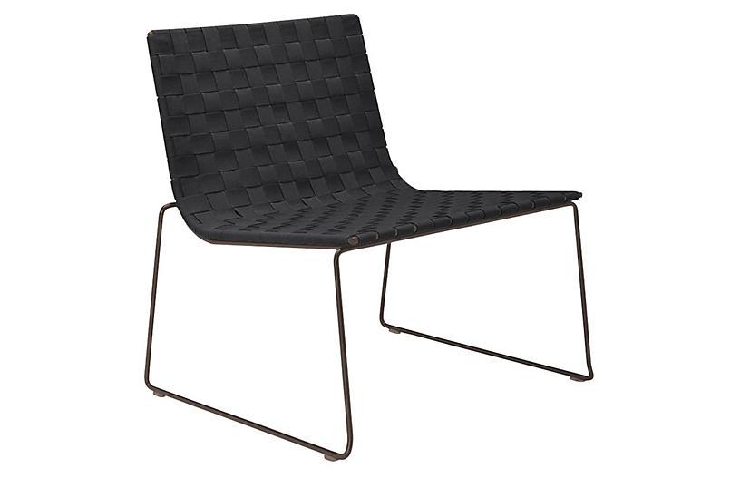 Trenza Accent Chair, Earth/Graphite
