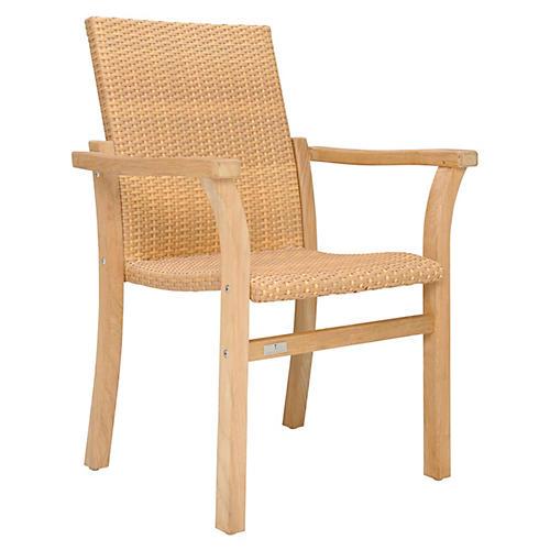Woven Armchair, Natural