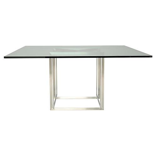Fibonacci Dining Table, Silver