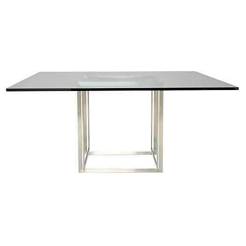 Fibonacci Dining Table, Silver