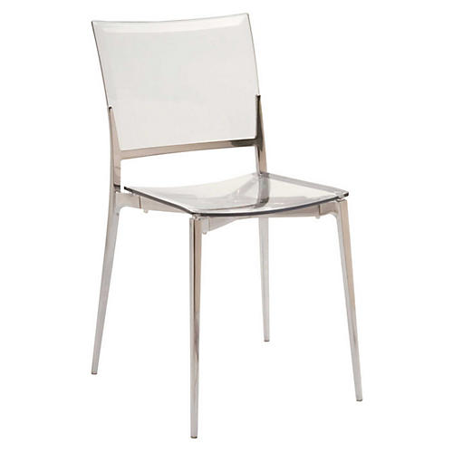 Gina Side Chair, Chrome