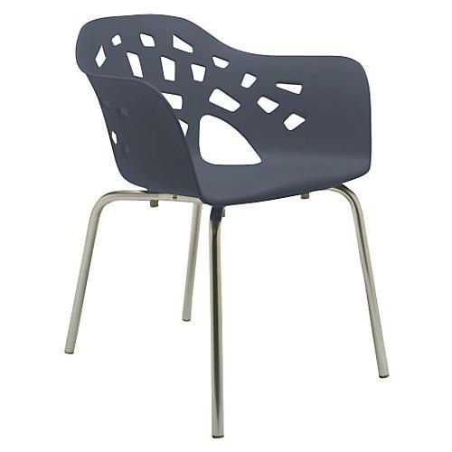 Miralook Armchair, Silver/Gray