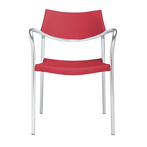 Splash Armchair, Silver/Bright Red