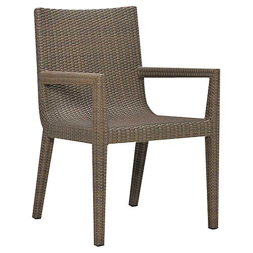 Quinta Woven Armchair, Khaki