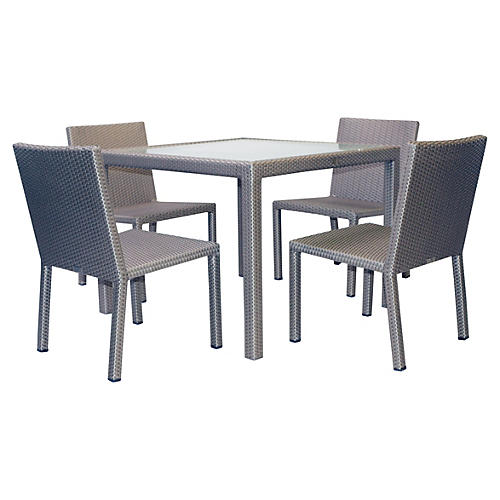 Milan III 5-Pc Dining Set, Palladium