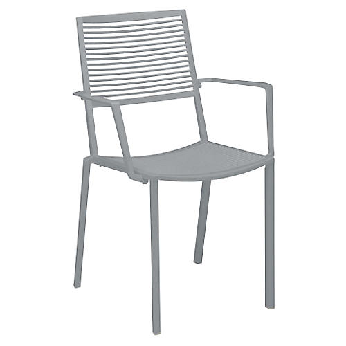 Easy Armchair, Silver