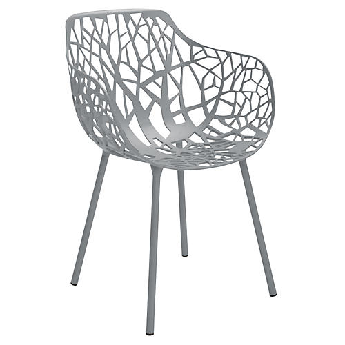 Forest Armchair, Silver