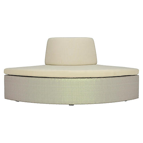 Open Curved-Out-Wide Module, Beige