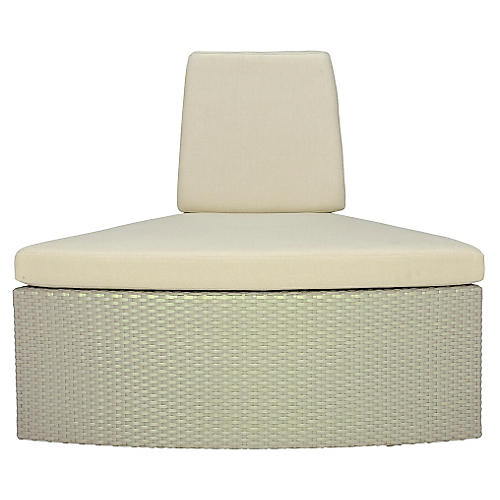 Closed Curved-Out Module, Beige