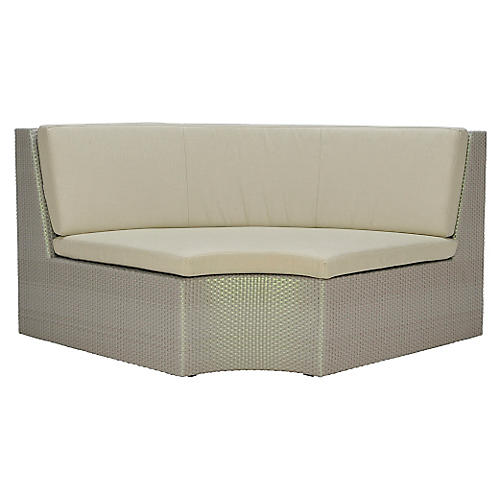 Closed Curved-In-Wide Module, Beige