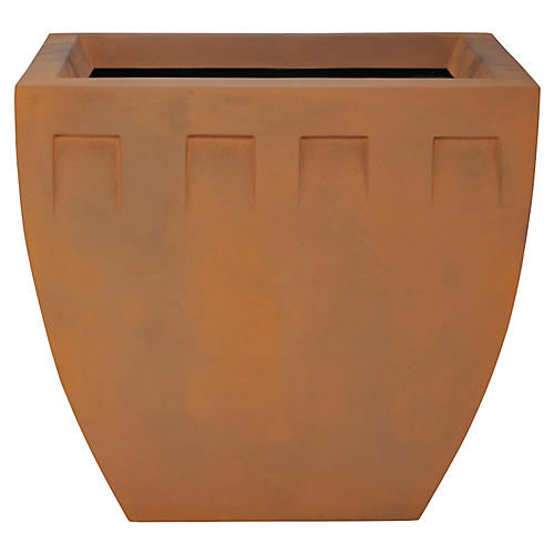 "24"" Deco Planter, Burnt Umber"