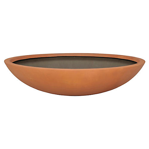 "36"" Dish Planter, Tuscan Orange"