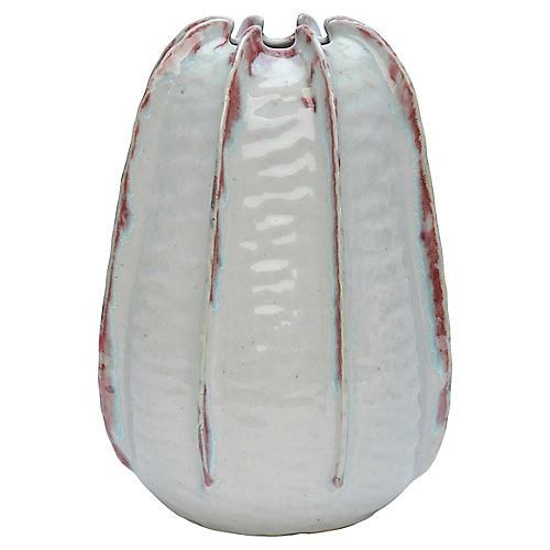 Fusion Large Ceramic Vessel, Seafoam