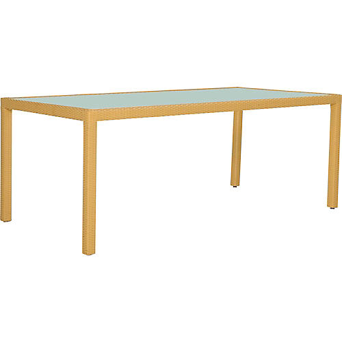 JANUSfiber Rectangular Dining Table, Pecan