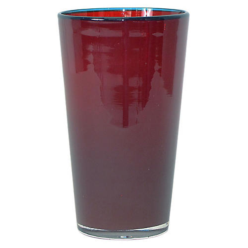 Medium Opal Glass, Red/Blue
