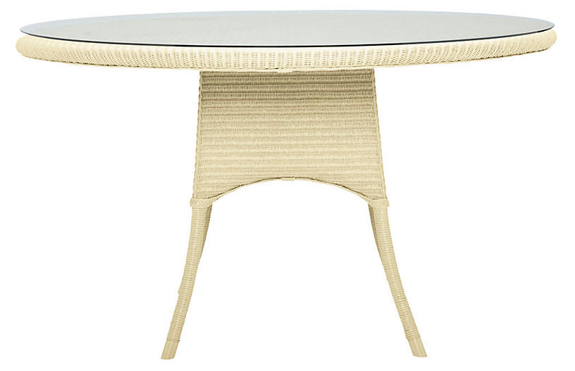 Nimes Round Dining Table, Ivory