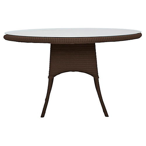 Nimes Round Dining Table, Wenge