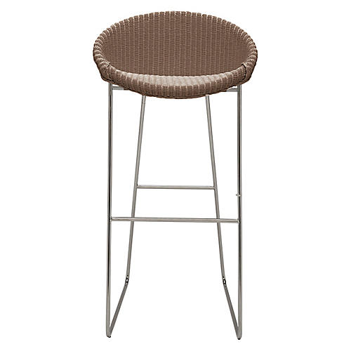 Joe Barstool, Silver/Tan