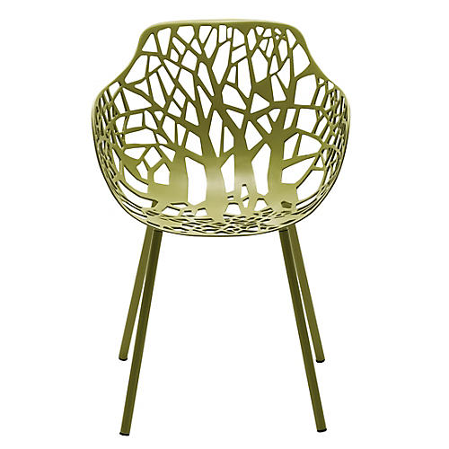 Forest Armchair, Olive Green