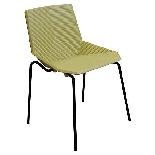 Hera Outdoor Side Chair, Black/Olive