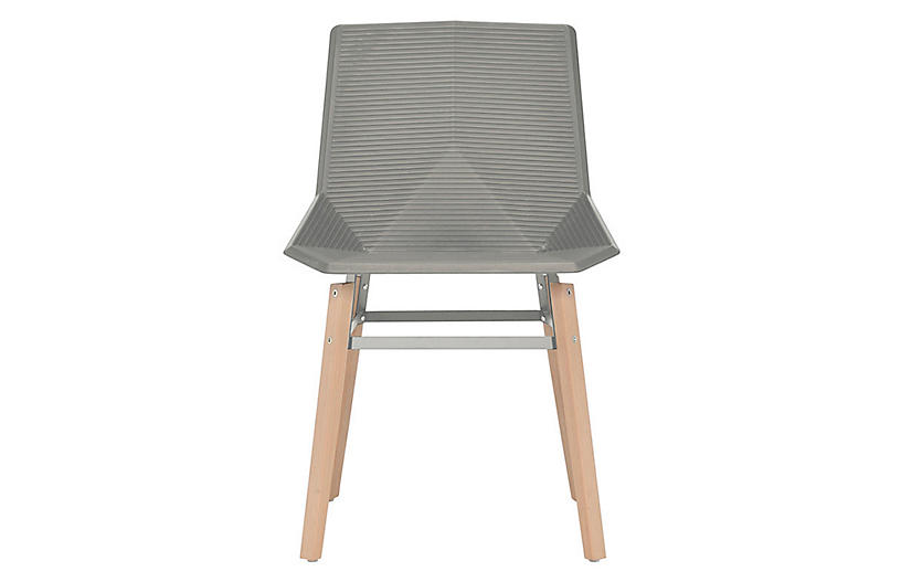Hypnos Outdoor Side Chair, Natural/Light Gray